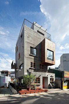 외부 전경: (주)건축사사무소 모도건축의 주택