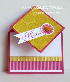 Lacy & Lovely Fun Fold Card with Video Tutorial -- by Julie Davison, http://juliedavison.com