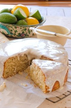 Coconut Feijoa Cake From Shirley Recipe Allyson Gofton Fejoa Recipes, Guava Recipes, Fruit Recipes, Sweet Recipes, Baking Recipes, Dessert Recipes, Recipies, Baking Ideas, Sweet Cakes