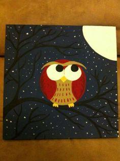 12 By Owl Canvas Art Handpaintedbykaitlyn On Etsy 6000