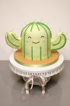My take on a little kawaii cactus cake for my daughter's 15th.