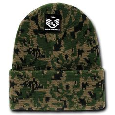 4f333619aa92b Rapid Dominance Military Camouflage Cuffed Beanies Knit Winter Watch Caps  Hats