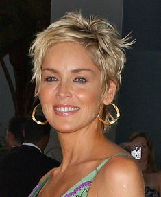 Sharon Stone, this is kind of like my current, messy look except it has grown out NEED  BOTOX WITH THIS!
