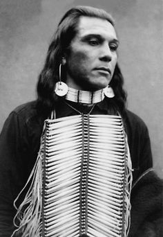 chest piece ..Akima or Umatilla Indian, from Oregon. Photograph taken in 1900.