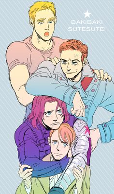 I love how protective of Skinny!Steve the Winter Soldier looks.
