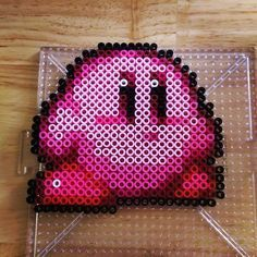 Kirby perler beads by knitsandperls