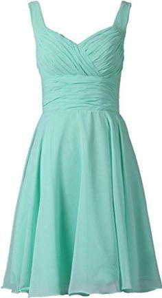ANTS Women's V-neck Chiffon Bridesmaid Dresses Short Prom Gown Size 2 US Turquoise ANTS http://www.amazon.com/dp/B00O6VZUFY/ref=cm_sw_r_pi_dp_R7WNub0NTV66J
