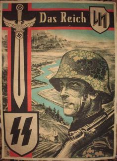 Waffen SS Das Reich poster The Beautiful Vaterland Nazi Propaganda, Nagasaki, Hiroshima, Military Art, Military History, Les Aliens, Ww2 Posters, The Third Reich, German Army