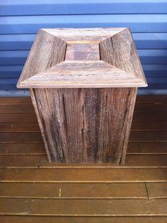 Handmade barn board side table