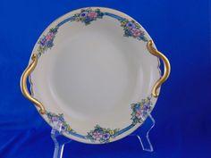 """Porcelain Blank Arts & Crafts Floral Design Bowl (Signed """"G.I.S.""""/Dated 1930)"""