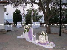 myrovolos : γάμος Προφήτης Ηλίας Χαιδάρι, λευκό λιλά, κούνια μ...