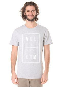 71d9d455c8f8bb Volcom Saturday BSC - T-Shirt für Herren - Grau