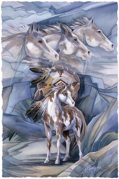 Bergsma Gallery Press :: Paintings :: Nature :: Horses :: I Am The Wind - Prints: