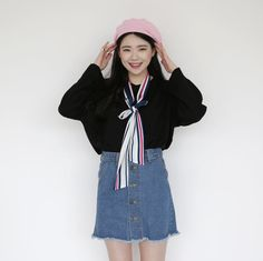 10's trendy style maker 66girls.us! Long Contrast Stripe Neck Tie (DGPO) #66girls #kstyle #kfashion #koreanfashion #girlsfashion #teenagegirls #fashionablegirls #dailyoutfit #trendylook #globalshopping