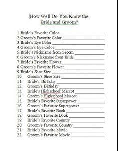 Domestic Randomness: Bridal Shower Games (& free printables)