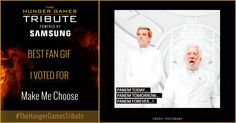 I voted for Make Me Choose as Tribute for The Hunger Games Tribute Awards #TheHungerGamesTribute  tribute.thehungergames.movie