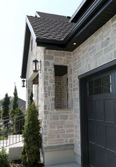 -Beautiful Exterior Home Design Trends Solid stone exterior. Exterior home trends See it Painted Brick Exteriors, Stone Exterior Houses, House Paint Exterior, Exterior Paint Colors, Exterior House Colors, Stone Houses, Exterior Design, Stone Cladding Exterior, Stucco And Stone Exterior