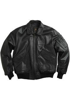 Alpha Black 45-P Leather Jacket