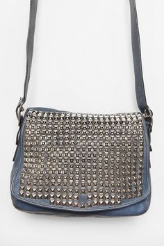 33bc7a31ae Vintage Blue Studded Coach Bag