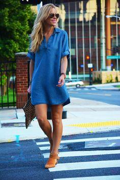 Veja como usar os vestidos chemise!