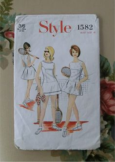 1966 tennis dress sewing pattern  style 1582 by sarasellsvintage, £3.00