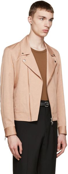 PS by Paul Smith Pink Moto Jacket