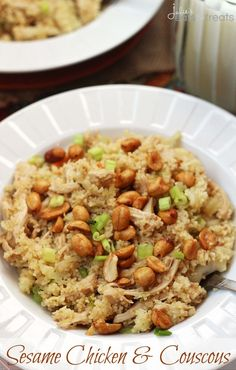 Sesame Chicken & Couscous ~ Quick & Easier Than Take Out! Have dinner on the table in less than 30 minutes!