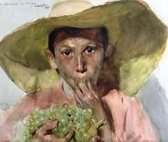 Хоакин Соролья-и-Бастида (Joaquín Sorolla y Bastida) Best Portraits, Spanish Artists, Spanish Painters, Watercolor Portraits, Watercolor Paintings, Bonnard, Painting People, Old Art, Cool Paintings