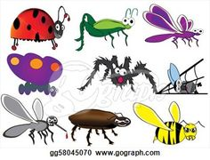 Stock Illustration - Various insects,bugs,cartoon beetle. Clip Art ...