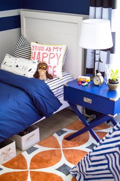 Lovely Neon Blue Wall Paint