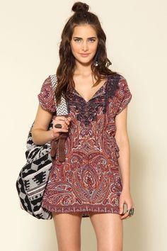 vestido bordado indian - 298