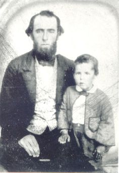 A young Sundance Kid with his father. The little boy would die in South America.