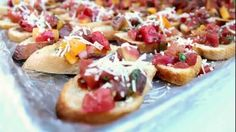 Catering Appetizers At Casa de Monte Vista In Palm Springs