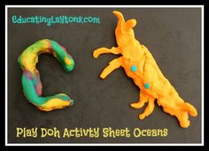 create ocean animals printable ~ Play Doh Activity Sheet - BEACH DAY WORKSHOPS for the week :)