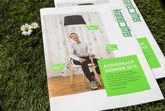 sales brochure Einrichtungshaus Kranebitter by eine-augenweide.com Corporate Design, Magazin Design, Design Studio, Grafik Design, Polaroid Film, Branding Design, Brand Identity Design