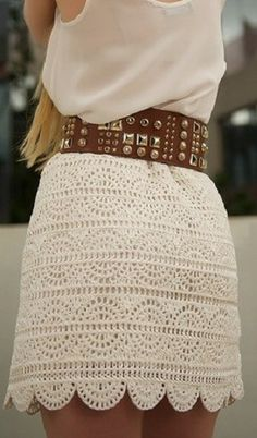 Stylish skirt crochet with graphs - just a little longer please