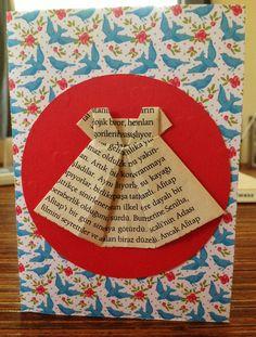 Origami dress handmade card #handmade #cards #origami #origamidress