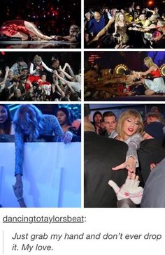 The second to last one on the bottom looks like she's recreating a scene from Titanic XD