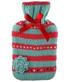 Softest sparkliest knitted hot water bottle cover