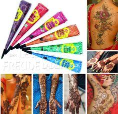 6x Golecha farbige Henna Kegel-Multi Colour á 25g Hennapaste-Klinisch getestet! | eBay