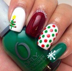#christmas # nailart #uñas #ideas #navidad #decoración