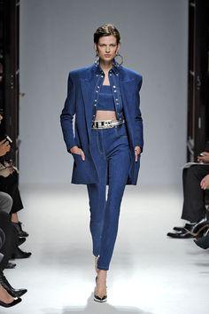 TREND - Denim on denim, Balmain Denim on Denim at Paris Fashion Week Womenswear Spring / Summer 2013