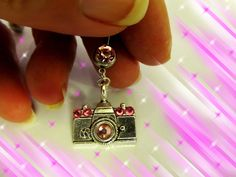 SALEBelly Ring Tibetan Silver Camera with Pink by Aim4Beauty, $7.99