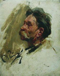 Ilya Repin - portrait of a peasant