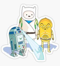 Star Wars Adventure Time Sticker
