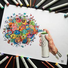 Doodle characters, doodle drawings, doodle art, cute drawings, street a Vexx Art, Graffiti Doodles, Doodle Images, Doodle Characters, Doodle Art Drawing, Drawing Ideas, Arte Black, Arte Sketchbook, Easy Drawings