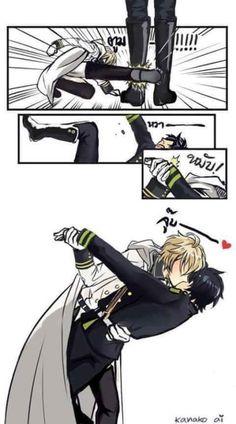 YESSS. Mika x Yuu forever! <3 | Owari no Seraph / Seraph of the End Mikaela Hyakuya, Yuichiro #mikayuu #anime
