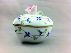 Herend of Hungary Porcelain Heart Shaped Trinket Box