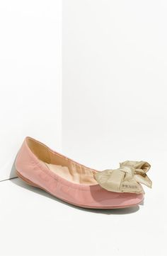 Prada Puff Bow Ballerina Flat. $390. if your not afraid of walking around with big ol' bows on your feet...this shoe is for you!