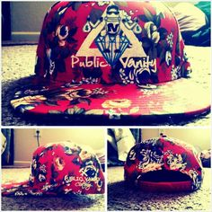 The Red Floral SnapBack. 100% Polyester. Fashion has never been so Dope. Public Vanity clothing  all about that Dope Fashion.Pvclothing.com join the innovation of street wear. #PublicVanityClothing #VanityLifestyle #DopeRobo